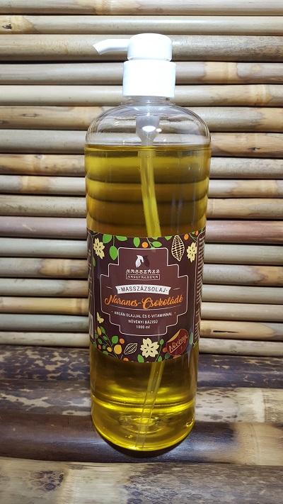 NARANCS - CSOKOLÁDÉ Masszázsolaj ~ argán olajjal és E-vitaminnal.  1000 ml. (MASSZÁZS MANUFAKTÚRA)