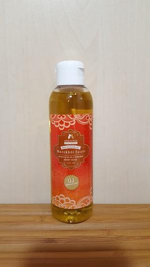 """ÚJ BÁZISOLAJJAL - MAROKKÓI FŰSZER - masszázsolaj 25 ml. ( Ricinusolaj + kukoricacsíra olaj + argánolaj + hidegensajtolt napraforgóolaj +,,E"""" vitamin )"""