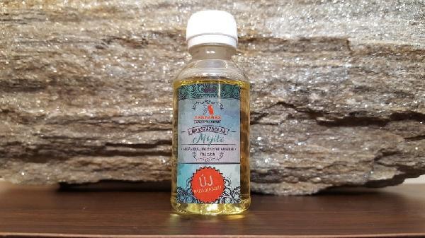 """MOJITO masszázsolaj 30 ml. Termékminta.  ( Ricinusolaj + kukoricacsíra olaj + argánolaj + hidegensajtolt napraforgóolaj +,,E"""" vitamin ) Paraffintól mentes növényi olajkeverék  - MASSZÁZS MANUFAKTÚRA -"""