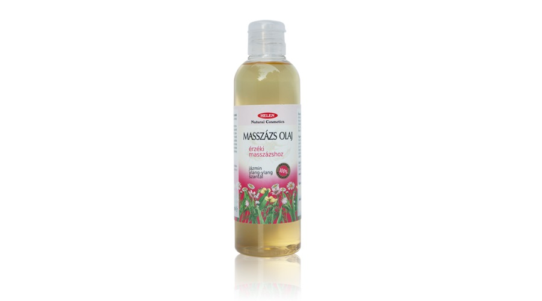 *Érzéki masszázsolaj 200 ml. (jázmin, ylang-ylang és szantálfa) Helén.